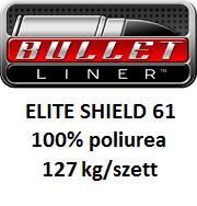 BULLET LINER ELITE SHIELD61 100% tisztaságú poliurea rendszer 127kg/szett
