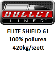 BULLET LINER ELITE SHIELD61 100% tisztaságú poliurea rendszer 420kg/szett